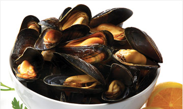 Our mussels in sauce